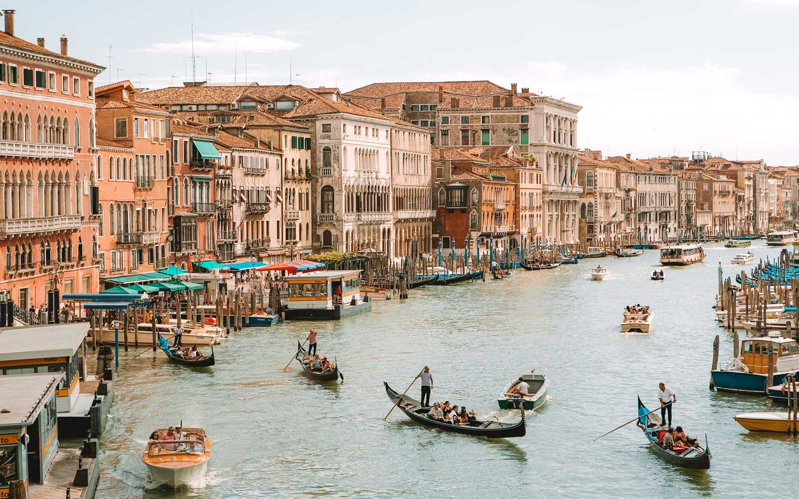 Sightseeing in Venice Italy during Summer.
